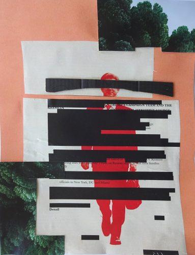 Melissa Raymaekers, o. T., 2019, Collage auf Papier, 27,9 x 20,8 cm_k
